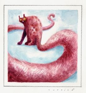 Gato Rojo por Turcios Arte